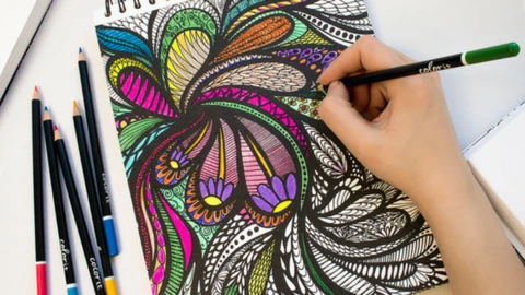 Color Your World With Adult Coloring-DIY-August